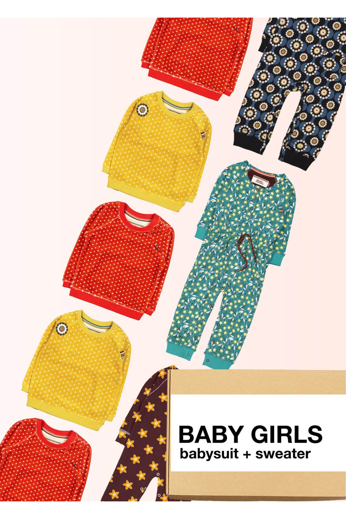 Surprise Box Baby Girls - Baby Suit + Sweater