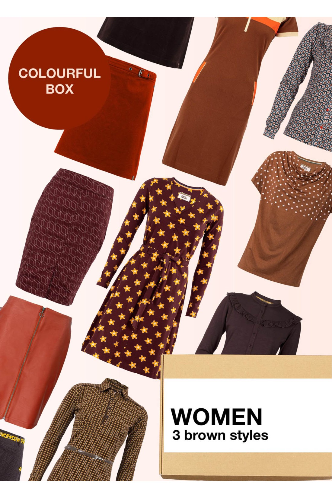 Surprise Box Women - Brown Box 3 Styles With Brown In It