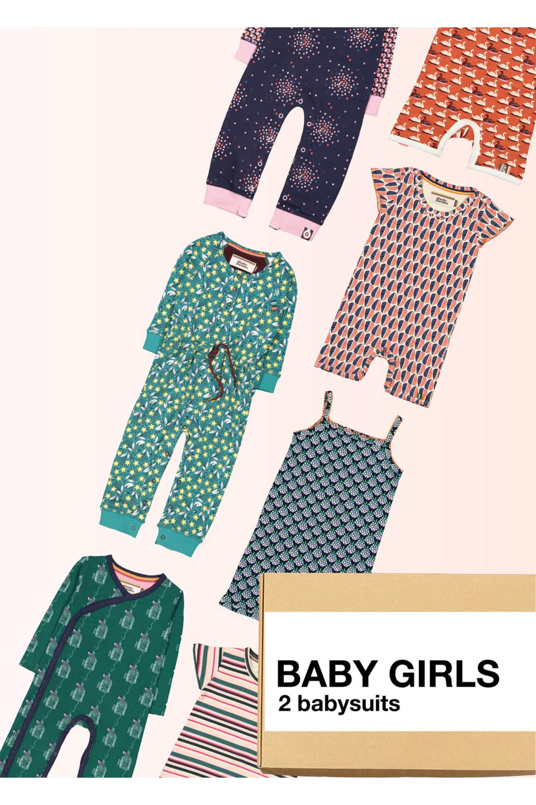 Surprise Box Baby Girl - 2x Baby Suits
