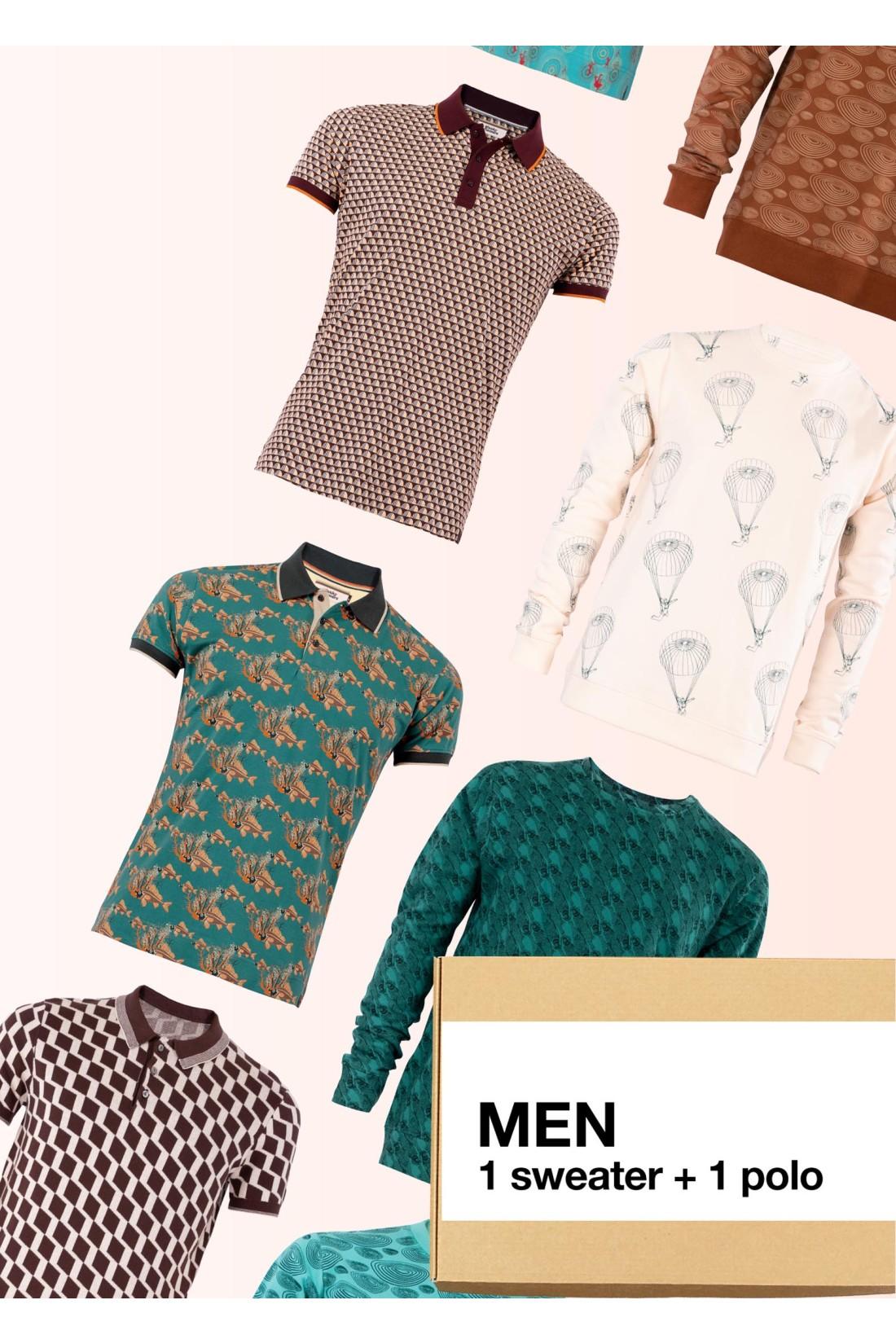 Surprise Box Men - 2 Styles - Sweater + Polo