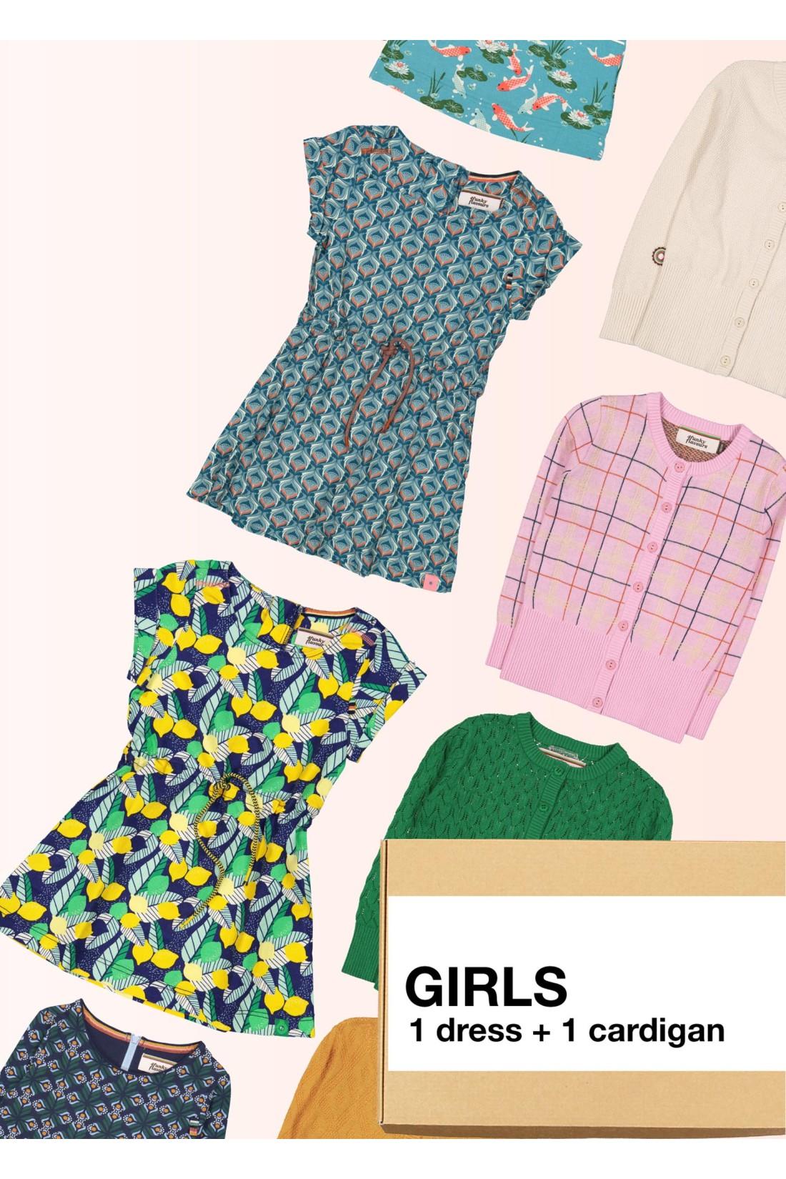 Surprise Box Girl - Dress + Cardigan