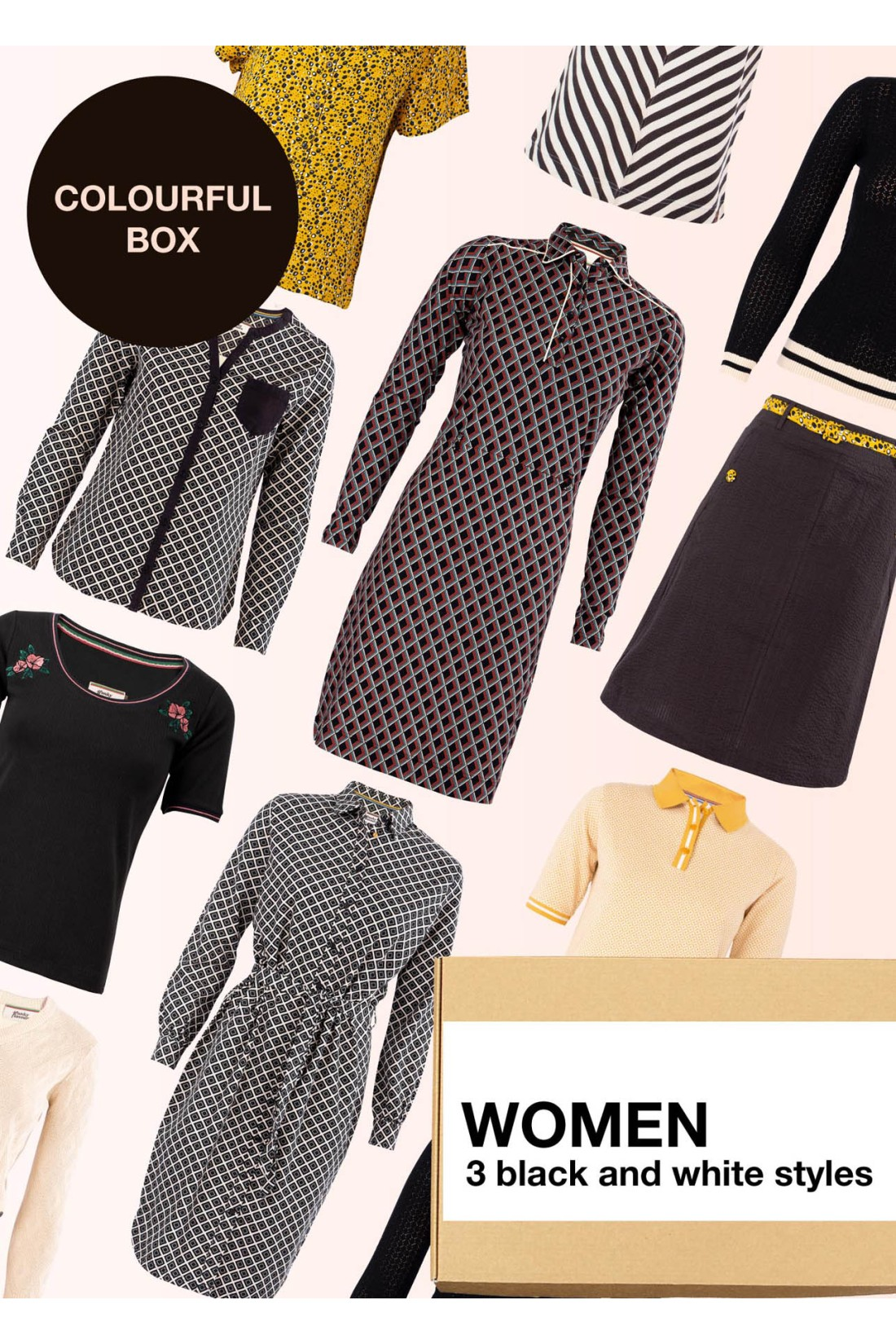 Surprise Box Women - Black And White Box 3 Styles With Black And White In It