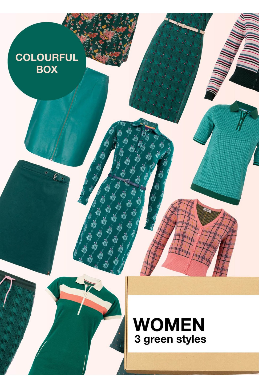 Surprise Box Women - Green Box 3 Styles With Green In It
