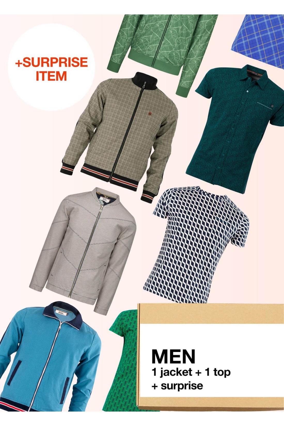 Surprise Box Men - 2 Styles - Jacket + Top Short Sleeve + Surprise
