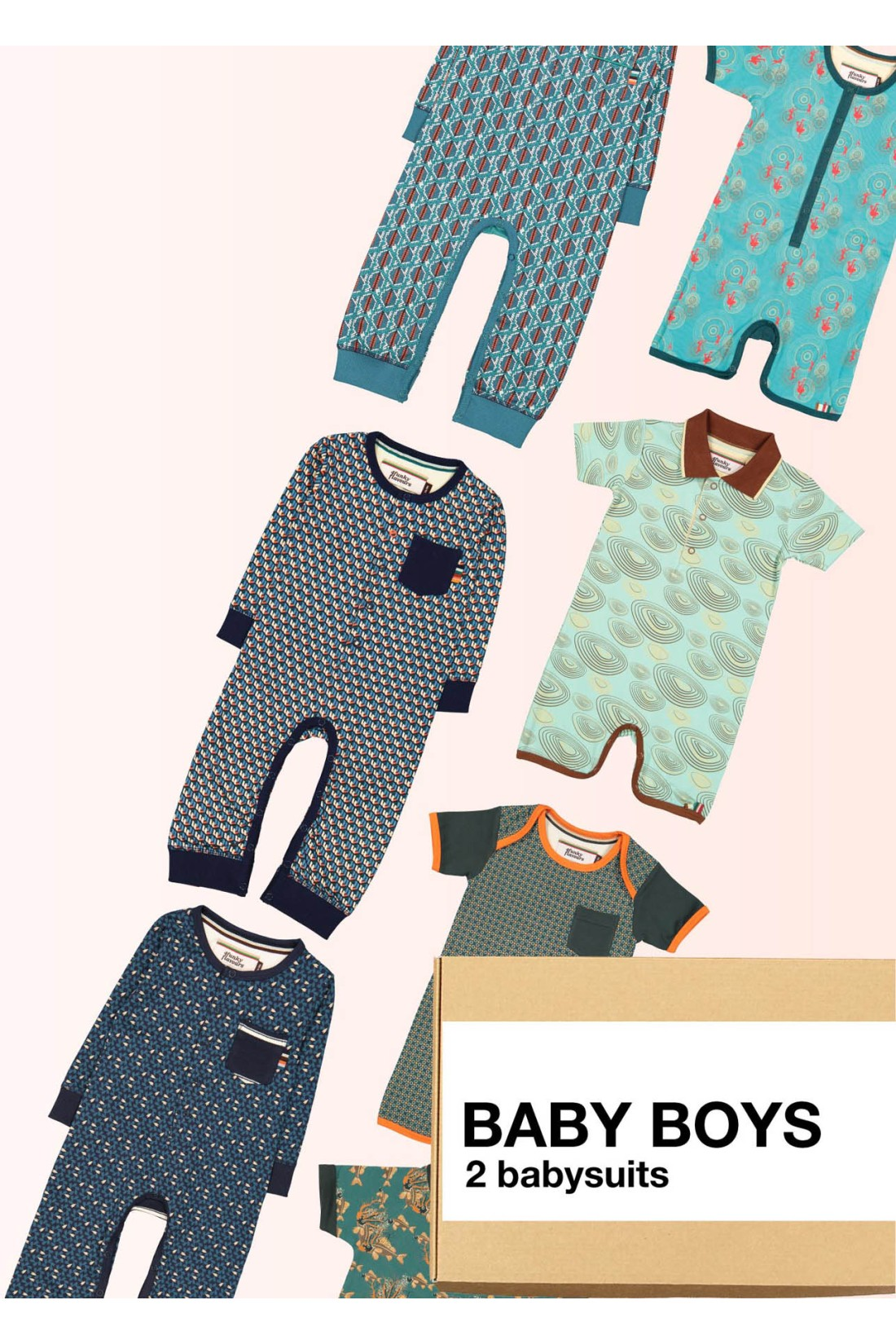 Surprise Box Baby Boys - 2x Baby Suits