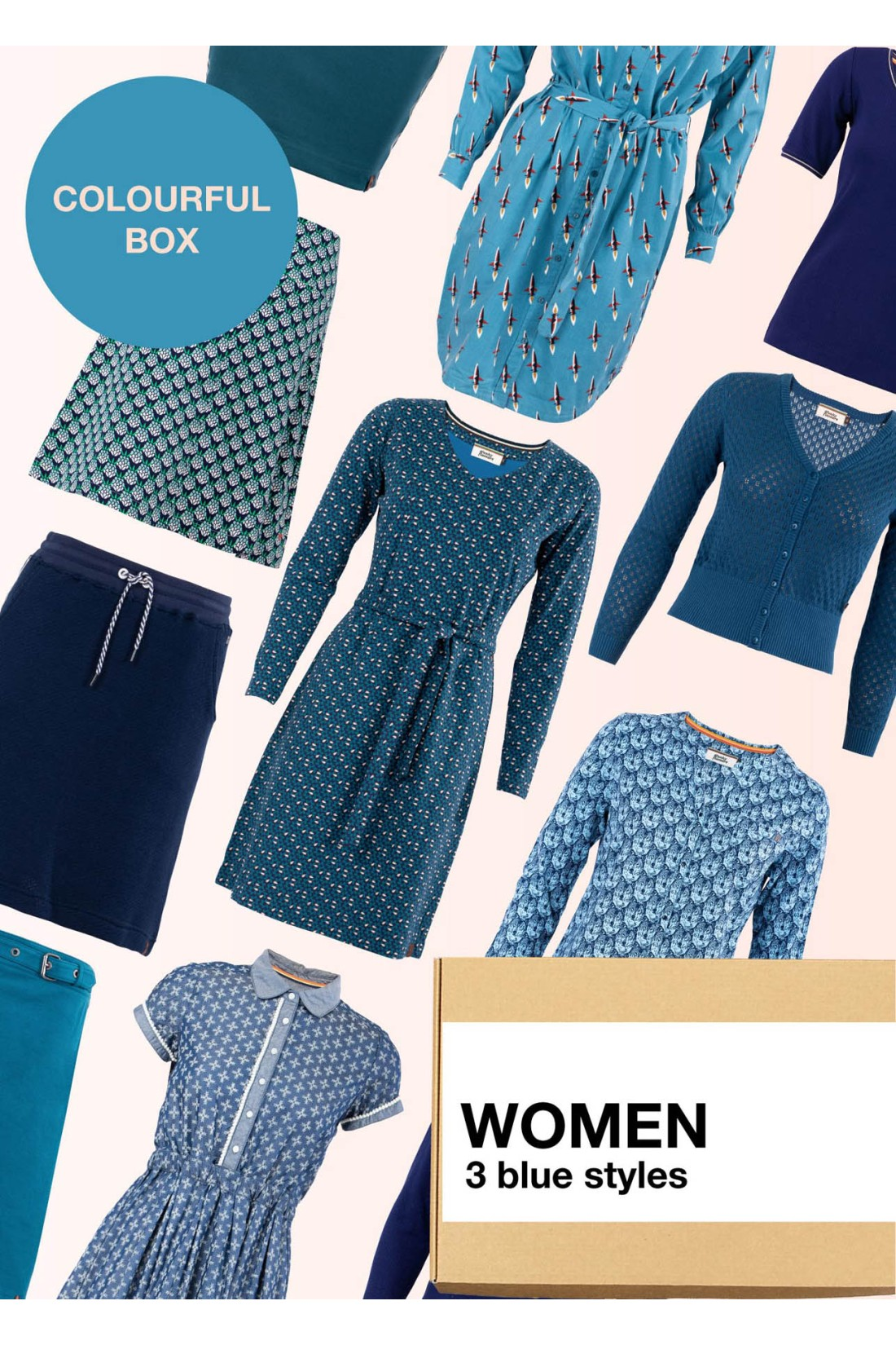 Surprise Box Women - Blue Box 3 Styles With Blue In It