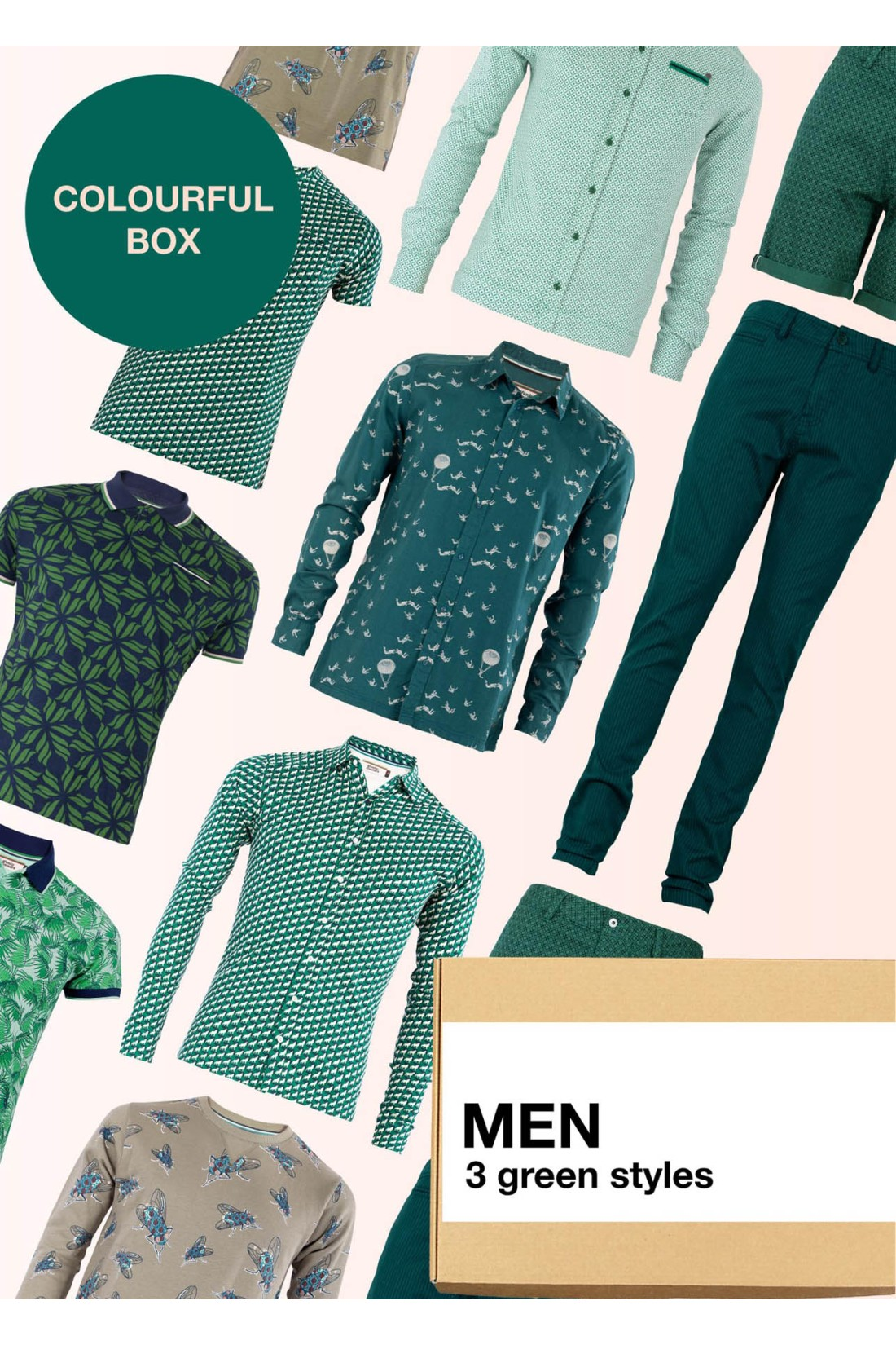 Surprise Box Men - Green Box 3 Styles With Green In It