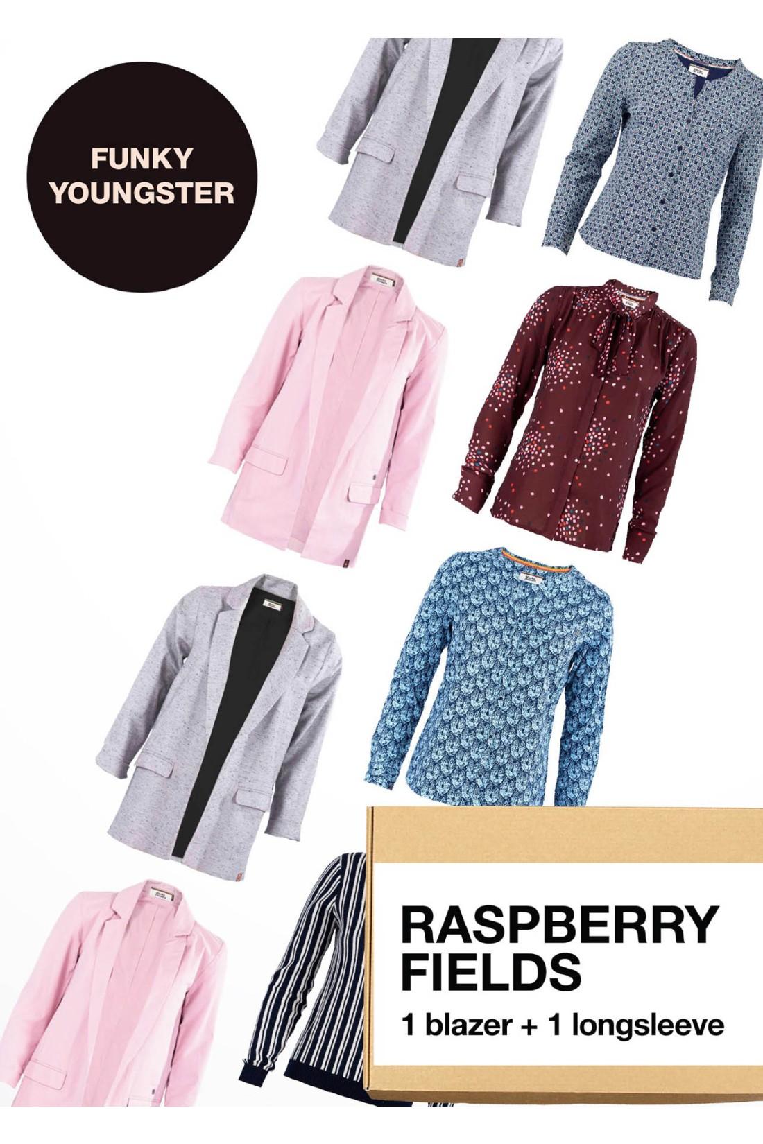 Surprise Box FUNKY YOUNGSTER - RASPBERRY FIELDS - 2 Styles XS-S - Blazer + Longsleeve