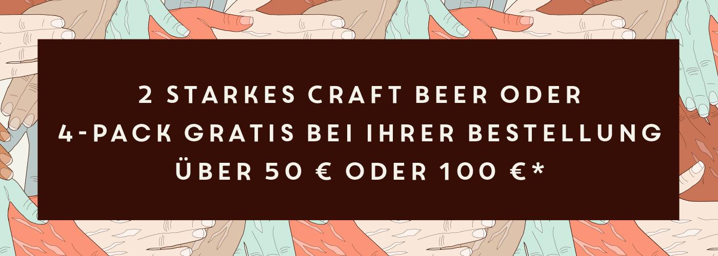 Gratis Craft Beer ab einem Bestellwert von 50 €