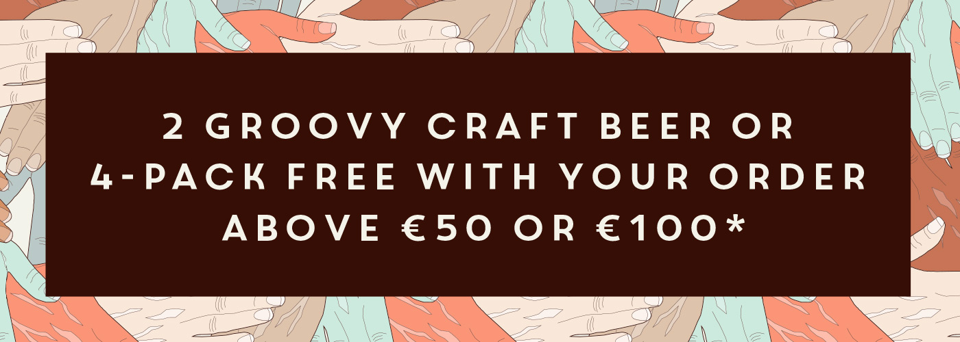 Free craft beer with your order above € 50