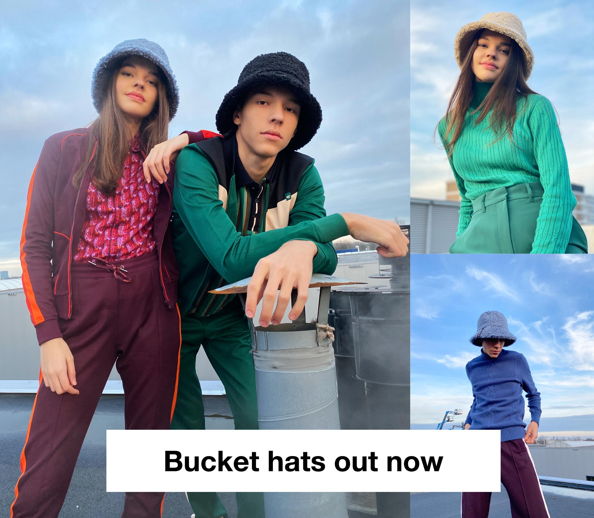 New: bucket hats!