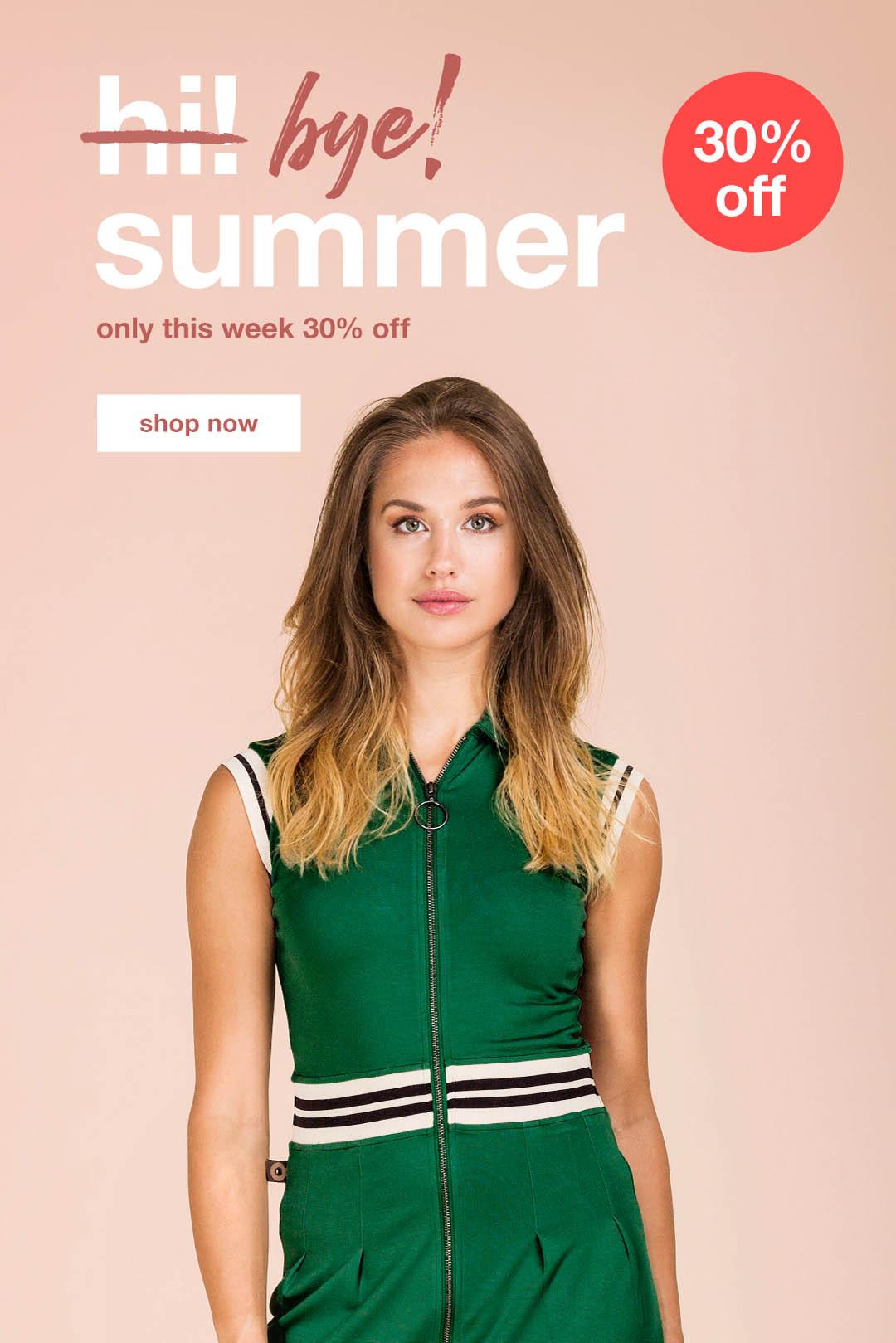 30% off - bye! summer