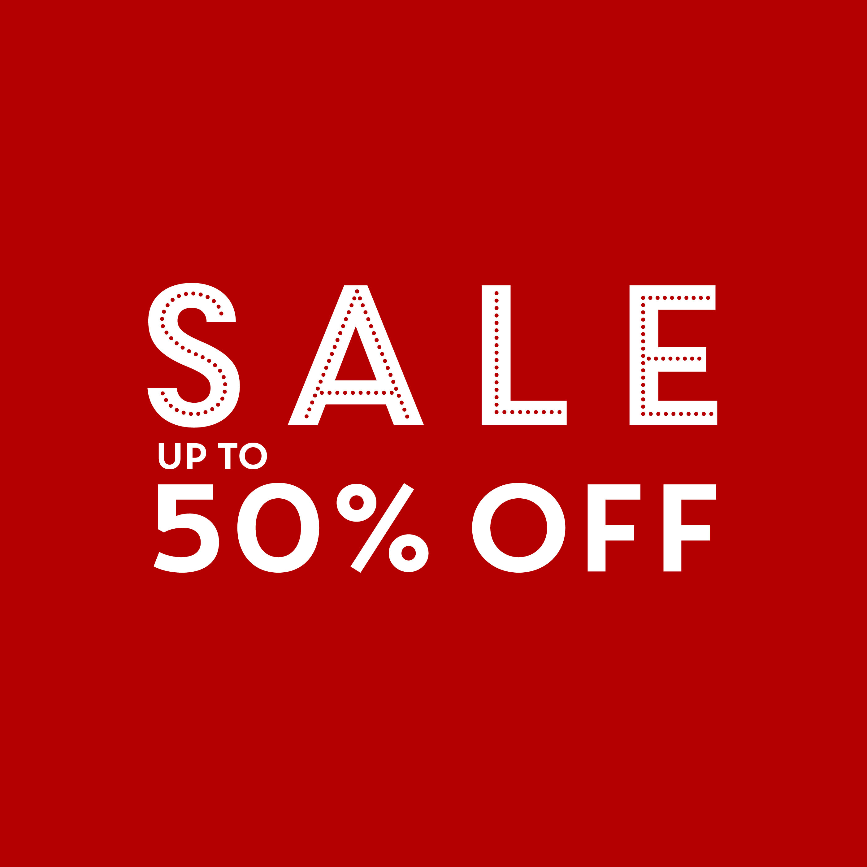 More items added - sale up to 50% off!