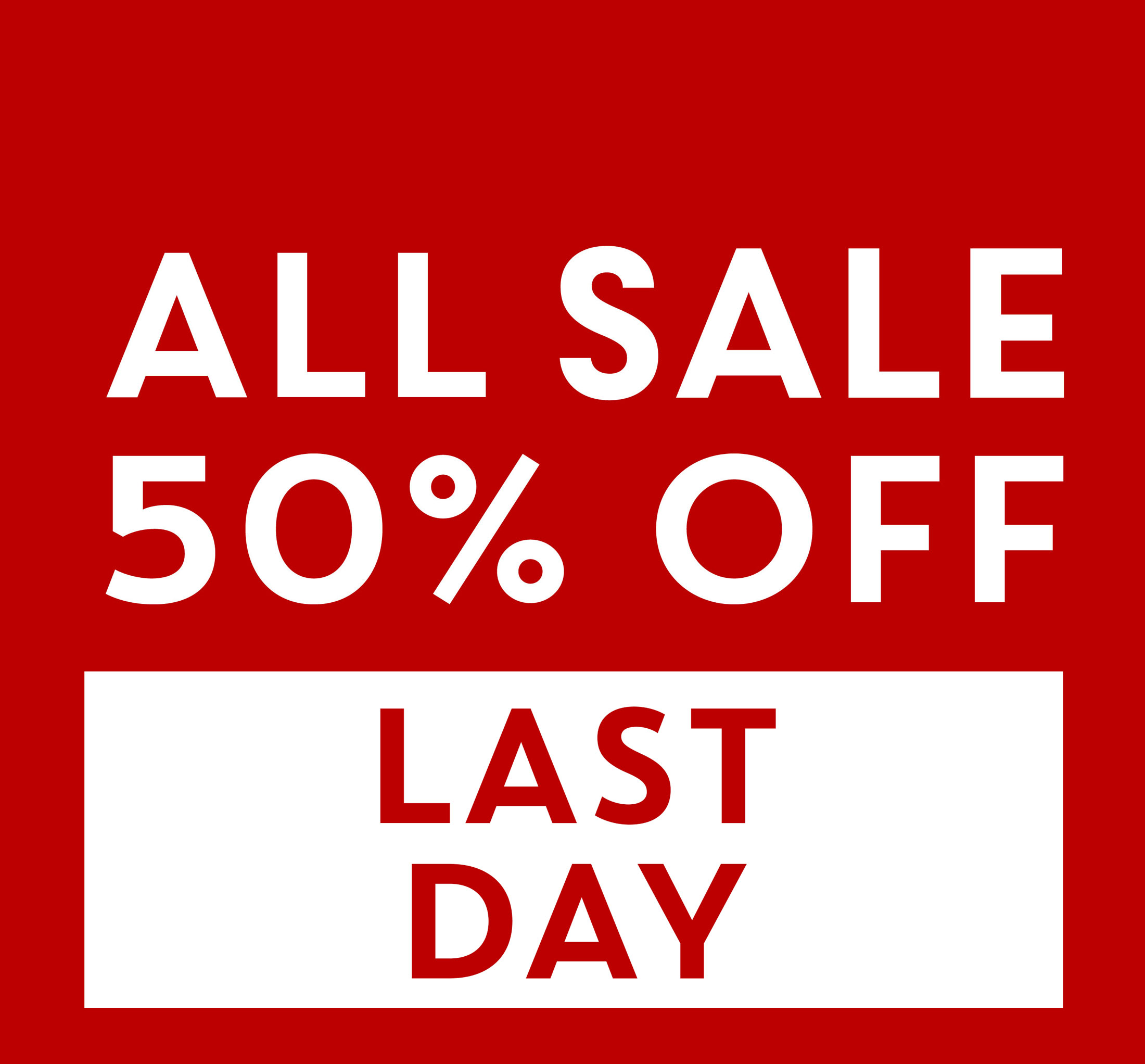 ALL SALE 50% OFF