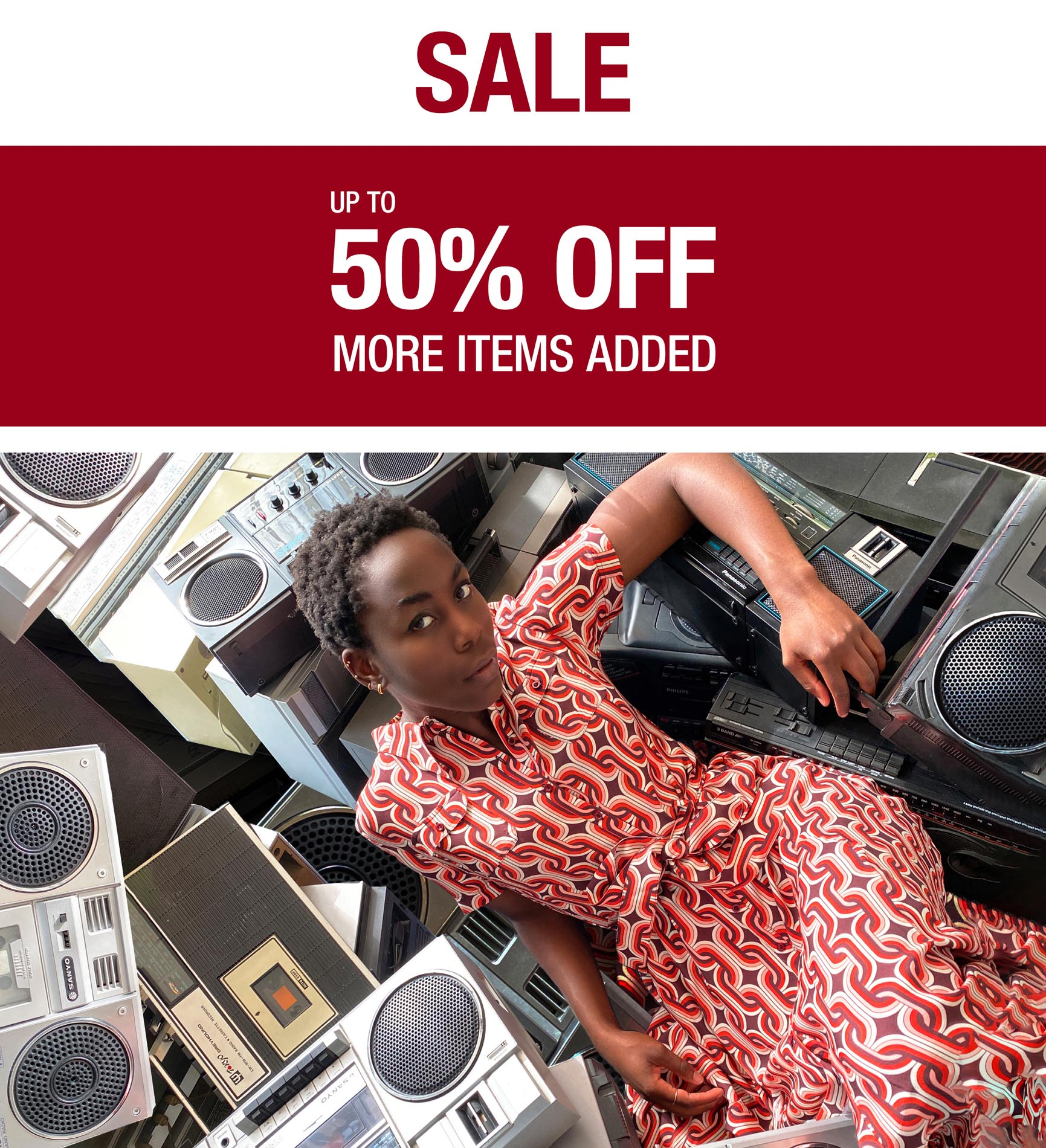 MORE up to 50% off